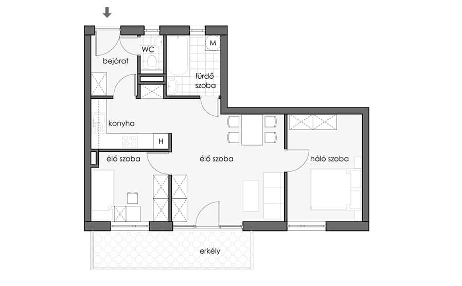 19 - First Floor - Turquoise Apt - HU_898x556